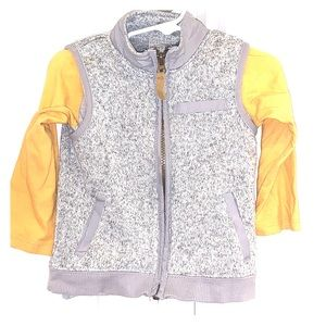 Long sleeve shirt and vest combo